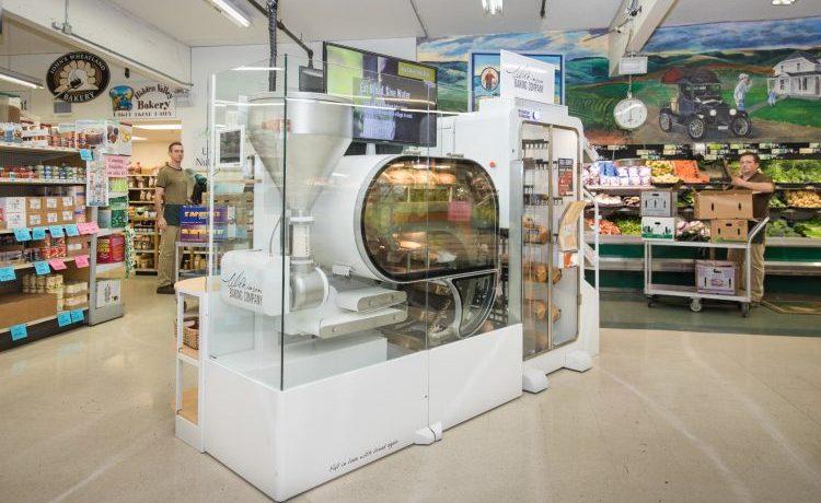 Robô de panificação permite que as lojas forneçam pão quentinho a qualquer hora.